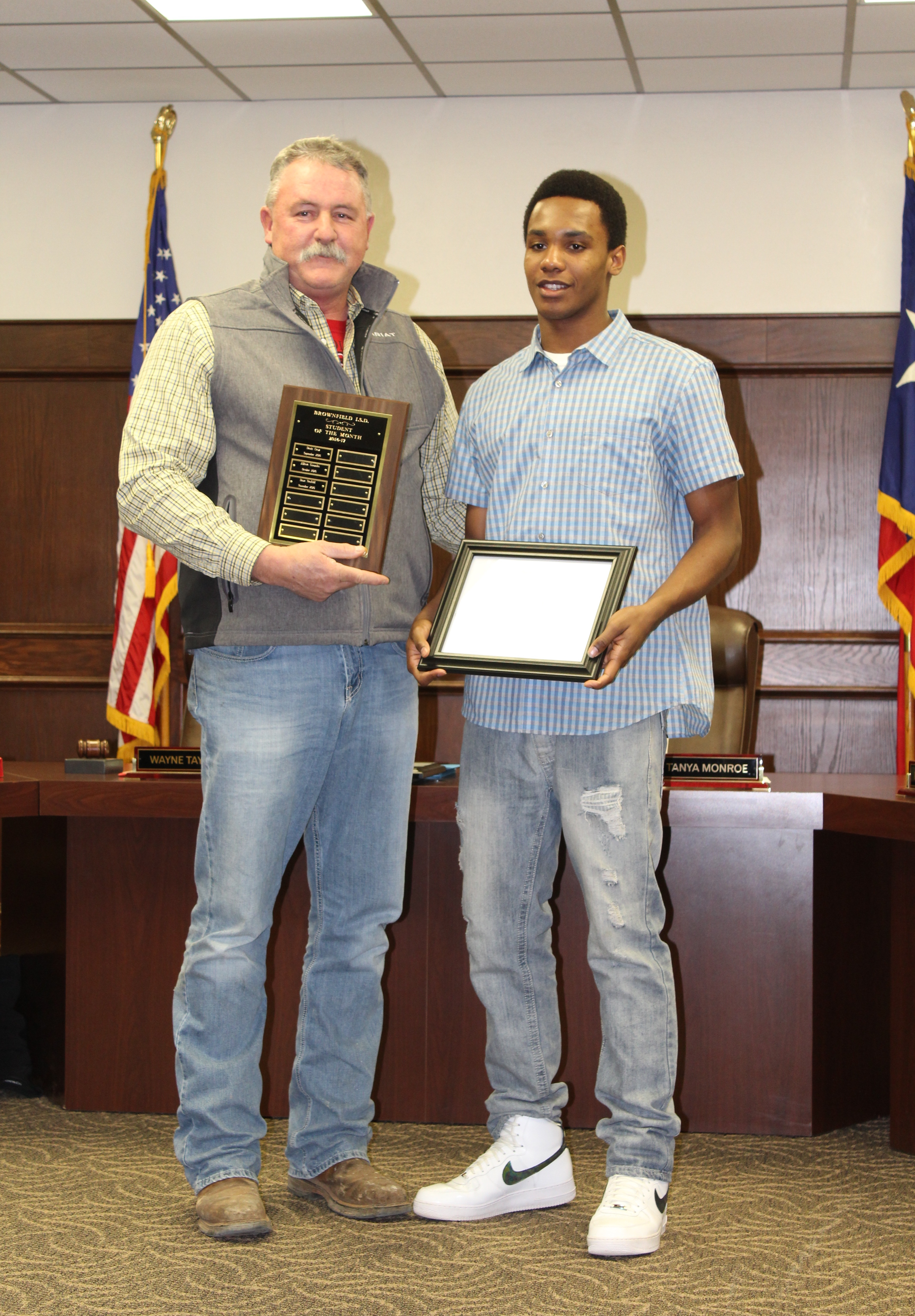 BISD Recognizes Student & Teacher of the Month