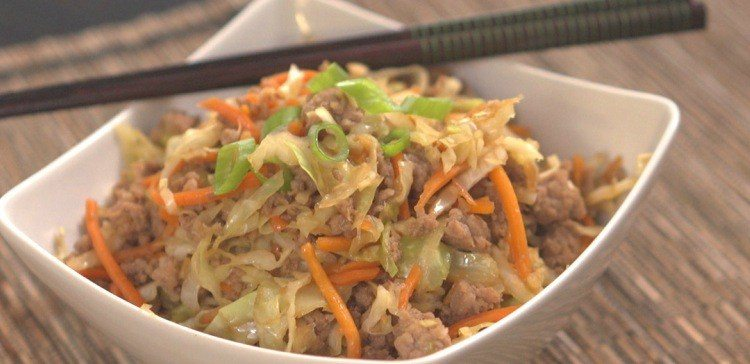 Delicious & Healthy Egg Roll in a Bowl