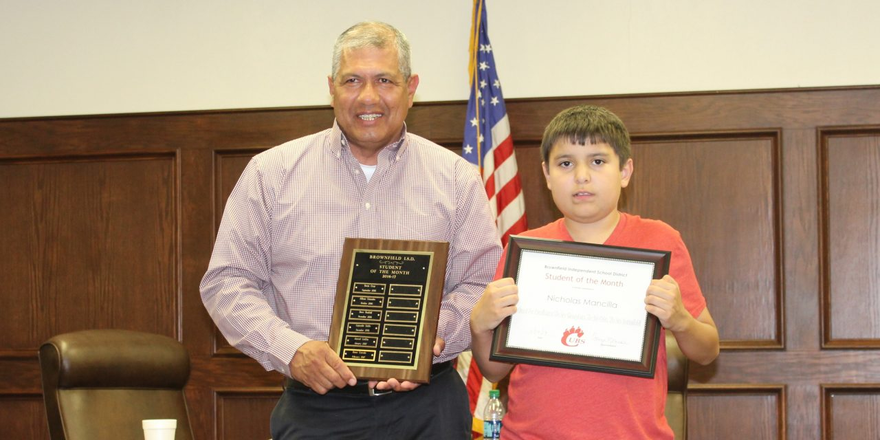 BISD April Student of the Month