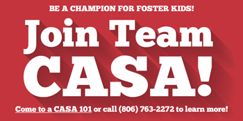 "35 new advocates needed to ""Join Team CASA"" and meet volunteer recruitment challenge."