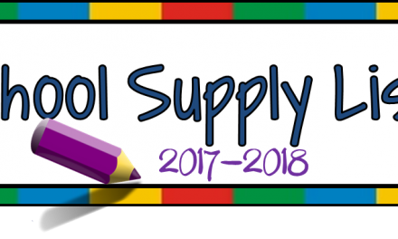 Gravitt Jr. High School Supply List 2017-18