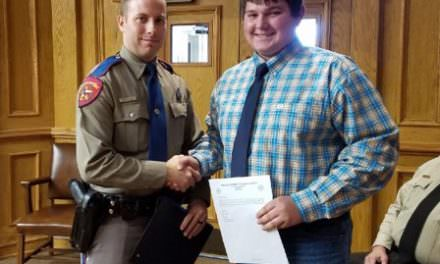 DCHS Student Recognized by Yoakum County Commissioners Court
