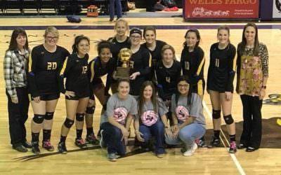 Wellman-Union Lady Cats Volleyball Team Win Bi-District