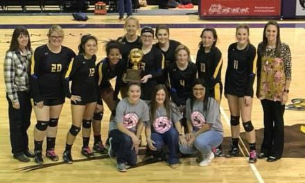 Wellman-Union Lady Cats Volleyball Team Win Bi-District