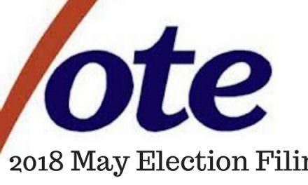 2018 May Municipal Election Candidates Set