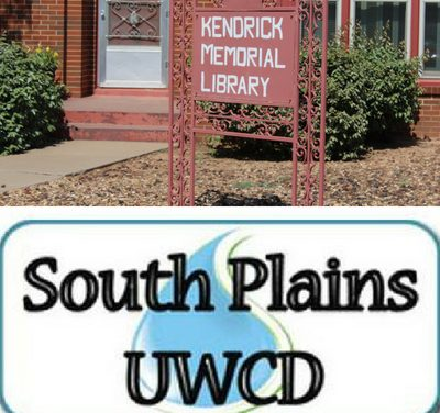 LISTEN NOW: Kendrick Memorial Library & South Plains Underground Water Conservation District