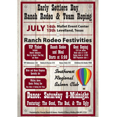 LISTEN NOW: Early Settlers Day Ranch Rodeo & Team Roping