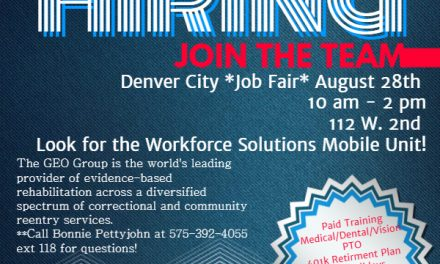 Lea County Correctional Facility is having a Job Fair in Denver City August 28th from 10 am to 2 pm