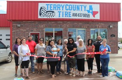 Terry County Tire's Ribbon Cutting was a Success