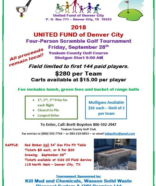 United Fund of Denver City holds Four-person Scramble Golf Tournament