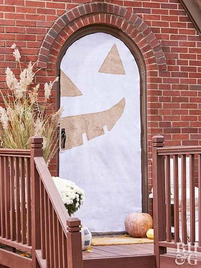 How To: Halloween Door Wrap