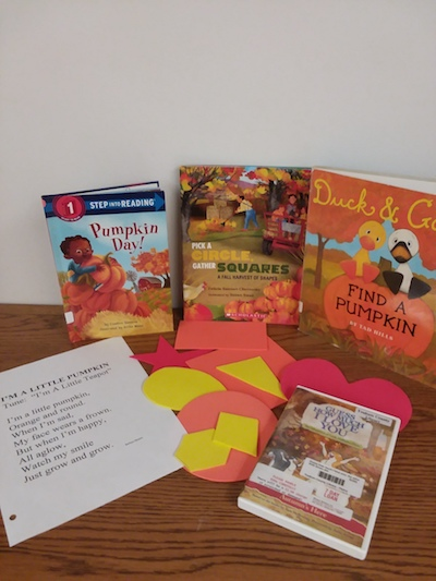 Pumpkin Party at StoryTime at the Yoakum County Library in Plains today!