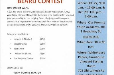 Last day to register for the O.P.Y.A Beard Contest!