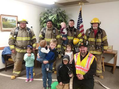 The Plains Volunteer Fire Department joined in the fun at StoryTime today!