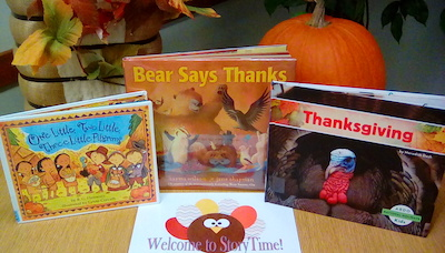 Thanksgiving and friends at the Yoakum County Library's StoryTime Today!