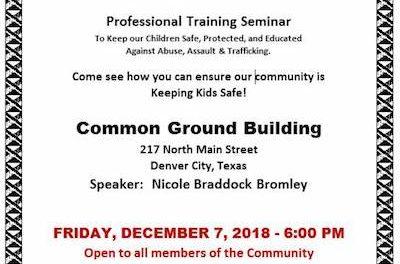 Professional Training Seminar coming to Denver City