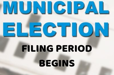 Municipal Elections Filing begins today, Jan. 16th, 2019