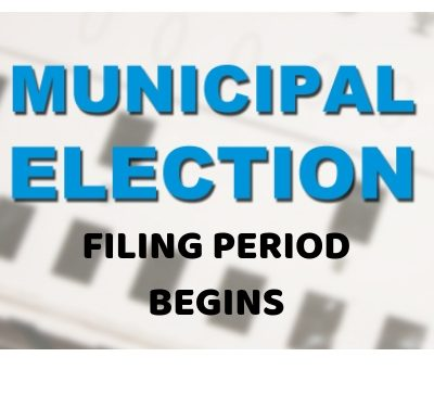 Municipal Elections Filing is set