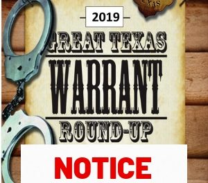 Local Warrant Round-Up Coming Our Way