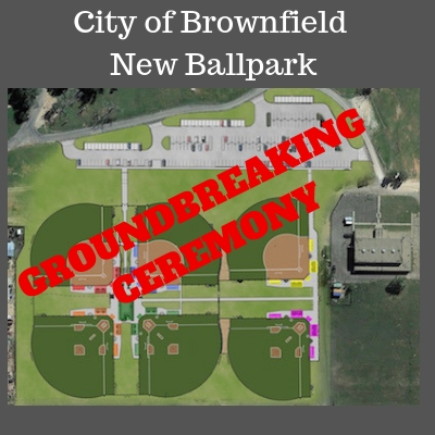 Groundbreaking Ceremony for New Brownfield Sports Complex