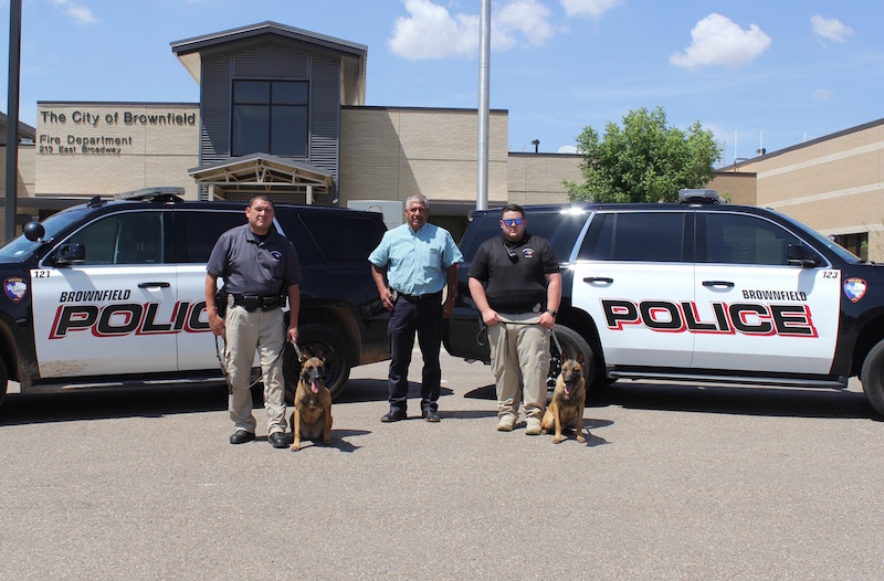 Brownfield Police Department's K9 Chip and Nikki to get donation of body armor